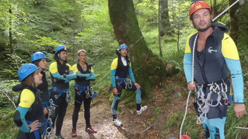 Départ canyoning
